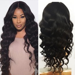 Wholesale Discounts Wigs - Big Discount! Factory Wholesale 100% Unprocessed Front Lace Wig Hair Loose Wave Brazilian Human Hair Wig