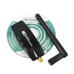 Wholesale Wireless Wi Fi Adapter - Wholesale- Newest Mini USB 2.0 wi-fi wi fi Wifi Router 2.4G 300Mbps Wireless Adapter 300M Computer LAN Card Antenna Realtek 8191 For Laptop