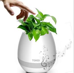 Wholesale Piano Desktop - New Bluetooth Smart Touch Music Flowerpots Plant Piano Music Playing Wireless Flowerpot colorful light Flower pots (whitout Plants)