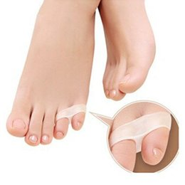 Wholesale Toe Separators For Bunions - 1Pair Little toe pinkie thumb for daily use gel Toe bunion guard toes separator of Foot Care Tool