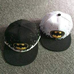 Wholesale Boys Batman Baseball Cap - New Children's Sun Hat Modern Baby Batman Flat-Brimmed Hats Boy Cartoon Hip Hop Caps Hockey Baseball Cap