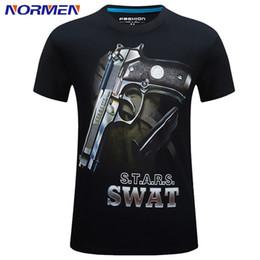 Wholesale T Shirt Models For Men - Wholesale- 2017 New Models 3D Cotton Short-sleeve Fashion T-shirt Men's Print O-Neck Stereoscopic T-shirt S-6XL For Men
