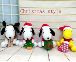 Wholesale Snoopy Stuff Toy - Cartoon Peanuts plush toys Snoopy Stuffed Animals doll 20cm Children best Christmas gift Free Shipping