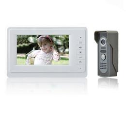 "Wholesale Door Entry Intercom System - Wholesale- Free shipping Wholesale Apartment 7"" Video Intercom Door Phone Entry System 1 Monitors + 1 Doorbell Camera IN Stock"