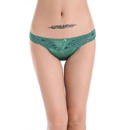 Wholesale Woman Satin Thong - Women panties bragas women underwear ladies Satin Lace T Word Pants Sales Thongs underwear women briefs