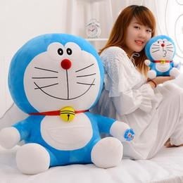 Wholesale Doraemon Birthday - Wholesale- 70cm Stand By Me Doraemon Plush Toy Doll Cat Kids Gift Baby Toy Kawaii Plush Anime Plush Pillow Girlfriend Kids Birthday Gifts