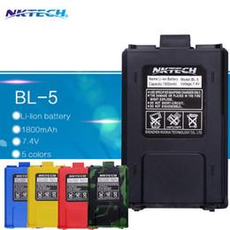 Wholesale Baofeng Bl - Wholesale- NKTECH BL-5 Original Battery Li-Ion For Baofeng uv5r Battery Radio Walkie Talkie Accessories Baofeng UV-5R Uv-5re 5ra Uv 5r