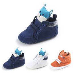 Wholesale Cute Kids Lace Up Boots - Wholesale- Newborn Baby moccsains Boys Girls Kids Shoes Cute Cartoon Animal print Infant Toddler Prewalker Cotton baby Shoes baby Boots