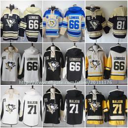 7a74e0f90 Pittsburgh Penguins Hoodies  66 Mario Lemieux 71 Evgeni Malkin 81 Phil  Kessel Sweatshirts Stitched Hockey Hoodies