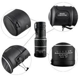 Wholesale Wholesale Mini Binoculars - Outdoor Mini 30x52 Dual for Focus Optic Lens Day Night Vision Armoring Travel Monocular Telescope Tourism Scope Binoculars 2507007