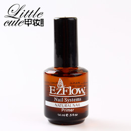 Wholesale Ezflow Nails - Wholesale-New 1Pc 14ML Ezflow Natural Nails Primer Nail Art Tool Products Acrylic Base Coat For UV GEL & Acrylic Tips