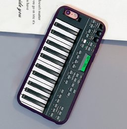 Wholesale Iphone 5c Keyboard - Electronics Keyboard 3D Printed Luxury Soft Rubber Skin Phone Cases For iPhone 6 6S Plus 7 7 Plus 5 5S 5C SE 4S Back Cover