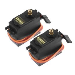 Wholesale helicopter gears - 2x MG995 55g Metal Gear Torque Digital Servo 13KG for RC Helicopter Car Robot