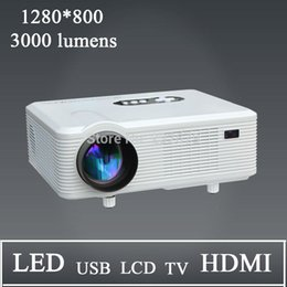 Wholesale Channel Business - Wholesale- Hot Selling !!!3000 Lumens 1280*800 Resolution Stereo Daul Channel Speaker 2000:1 Support 1080p 3D Image Projector