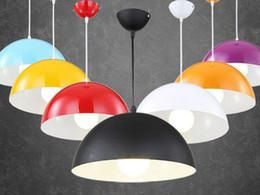 Wholesale Modern Purple Bedrooms - Hanging lighting Semicircle aluminum single-head pendant light black white Red Multicolor Simple Fashion Pendant light Home pendant Lamps