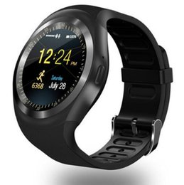 Wholesale Korean Male Models - smartwatch android smart watches round Y1 model for men and women support SIM card TF card multi colors
