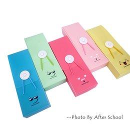 Wholesale Lovely Pencil Case - Wholesale- 1 pc lot Q Expression PVC Pencil Cases School Student Stationery Pencil Bags Korean Creative Bags Cute Lovely Pencil Bag