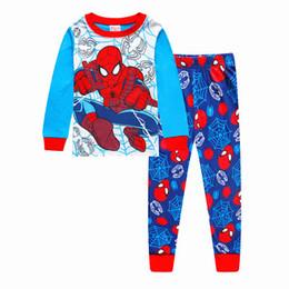 Set di abbigliamento per bambini online-Nuovo bambino ragazzi ragazze pajam set di abbigliamento per bambini manica lunga pantaloni striagiamento pigiama personaggio pigiameria per 2-7 anni