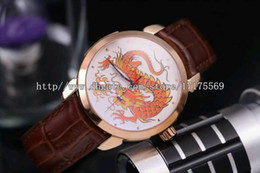 Wholesale Vintage Pin Back - Classic vintage fashion noble precision top imported automatic mechanical waterproof sapphire mirror through the back belt men's Watch