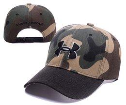 Wholesale Camo Boy Snapback - UA Snapback Caps UA armour Baseball Cap Unisex Sports Camouflage camo baseball hat Casual boy Hip-hop Hats For Men Women adjustable