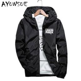 Wholesale Mens Short Coat Khaki - Wholesale- New Hooded Mens Jackets And Coats Black Thin Casual Men's Jackets Autumn Spring Men Coat Blouson Homme Plus Size 6XL 7XL FYY291