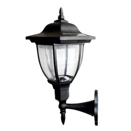 Wholesale Solar Led Home - Wholesale- ASLT Solar Powered Outdoor LED Solar Lamps Garden Pathway Wall Landscape Light Wall Sconce for Home Outdoor Lighting Decoration