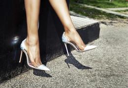 PVC-transparente spitze Zehe reizvolle Dame pumpt Schuhe freies Verschiffenkappenzehe Beleg-auf Frauen-Absatzmarke-Parteikleid-Sandelholzschuhen von Fabrikanten