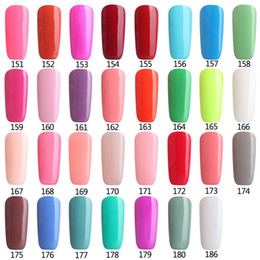 Wholesale Wholesale Uv Coating Prices - Wholesale- Colors 151-180 Soak Off UV Gel Nail Polish Wholesale Price Gel Nails Lacquers Gel Colors Manicure Top Base Coat Free Tip Guides