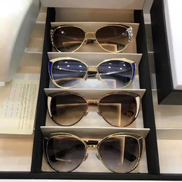 gli occhi grigi chiari Sconti 2017 Occhiali da sole firmati da donna Domi Occhiali da sole in oro chiaro PTF grigio Occhiali da sole con lenti sfumate Nuovissimi con scatola