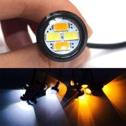 Wholesale Led Runing Lights - Hot 10pcs 23mm 5630 External Lights Source LED DRL Eagle Eye Daytime Runing Warning Fog Light Turning Signal CLT_03G
