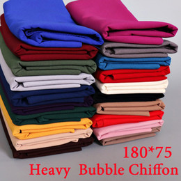 Wholesale Bubble Scarves - Wholesale- 180*75cm 20 color bubble chiffon plain big bubble thick shawls hijab winter malaysia popular scarves scarf