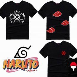 Wholesale Naruto Cosplay Wholesale - Wholesale- Naruto T-Shirt Anime T Shirt Akatsuki Kakashi Gaara Hokage Uchiha Itachi Sasuke Sharingan Men Child Gift Tshirt S - XXL Cosplay