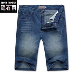 Wholesale Men S Jeans Bermuda - Wholesale-Mens Jeans Denim Shorts Casual High Quality Cotton Washed Shorts Bermuda Masculina Plus Size