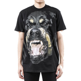Wholesale Dog Shirt Woman - New 3D Rottweiler Dog Printed T-Shirts Funny Embroidery Dog Tee Shirts Men Women Fashion Hip Hop Short Sleeve Streetwear Tees