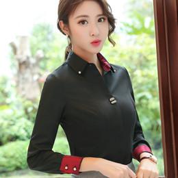 Wholesale Office Wear Blouses - Fashion Women Clothes Long Sleeve Shirt Slim Female Chiffon Blouse Office Ladies Plus Size Work Wear Blusas Tops