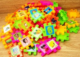 Wholesale Picture Blocks - wholesale 68pcs Building blocks toys with pictures early education puzzle Education ToysKindergarten games teaching utensils children gifts