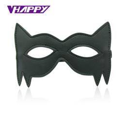 Wholesale cheap sex toys for couples - Cheap Leather Blindfold Sexy Eye Mask Bondage Masque Mask Sex Aid Party Fun Flirt Sex Toys For Couple Mask Women Man VP-EM008026