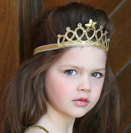 Wholesale Tiaras For Sale - Hot Sale Children Hair Accessories Baby Princess Crown Security Hair Band for Birthday Party Crown Head Jewelry Wholesale Free Shipping