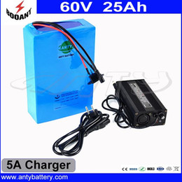 Wholesale Lithium Batteries For E Bike - High Capacity 25Ah 60V E-Bike Battery With 5A Charger For 2000W Motor Power Lithium Electric Bicycle Battery 60V Free Shipping