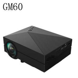 Wholesale Building Home Design - Wholesale-Portable Design GM60 LCD Projector 1000LM 800x480 Pixels 1080P USB HDMI VGA AV Connectivity Built-in HiFi Speaker Projector