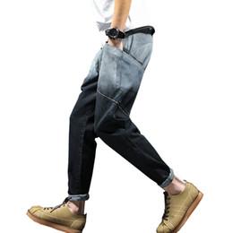 Wholesale Wholesale Capris Jeans - Wholesale- 2017 Spring New Fashion Men Jeans Pants Casual Slim Fit Youths Mens Jogger Jeans (Asian Size)
