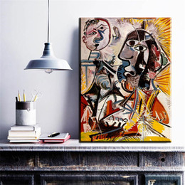 Wholesale Cheap Single Sheets - ZZ841 Pablo Picasso Cuadros Wall Art Paintings Cheap Painting Picasso portrait canvas Wall Pictures for Living Room No Frame
