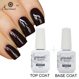 Wholesale Finish Cleaning - Wholesale- Saviland 1pcs Clean Free Soak Off Finish Top Coat Seal Gel Foundation Base Coat Primer UV LED Nail Gel Polish Gel Lak