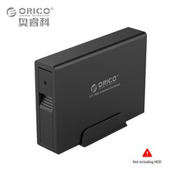 Wholesale Orico Hard Drive Enclosure - Wholesale- Aluminum Hard Drive HDD Enclosure USB3.0 to SATA 3.5 inch HDD Case Aluminum Tool Free Support UASP 12V2.5A Power (ORICO 7618US3)