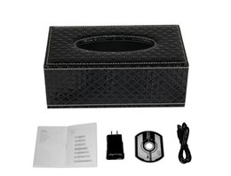 Wholesale Ip Video Box - Mini 1080P WIFI HD SPY DVR Hidden IP Camera Tissue Box Video Recorders Nanny Cam
