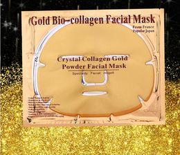 Wholesale Mask Facial Collagen Gold - 24K Gold Powder Bio Collagen Mask Albumen Crystal facial Mask Girl Woman Skin Care Gel face mask masks Facial Peels Free DHL