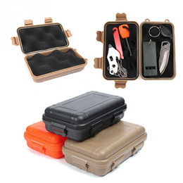 Wholesale Storage Box S - New arrive S L Size Outdoor Plastic Waterproof Airtight Survival Case Container Camping Outdoor Travel Storage Box Hot sale