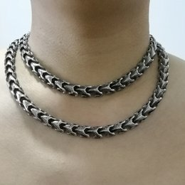 Wholesale Men Wearing Necklaces - 16l stainless steel 16-40'' vary length dragon link men boy jewelry punk 316L stainless steel 2 kind wear method chain necklaces or brace...