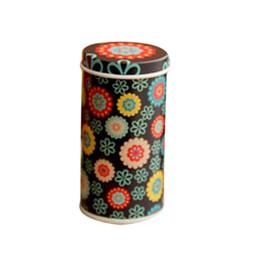 Wholesale Sweet Jars - Wholesale- Special Offer! Mini High Cylindrical Tank Caddy Sweet Box Cartoon Candy Jar Portable Tin Box Color Random 3.3*7.3cm HG0563