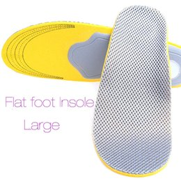 Wholesale Foam Insoles Shoes - 40-46 Comfortable Orthotics Flat Foot Insole PU Orthopedic Insoles Shoes Insert Arch Support Pad Plantar Fasciitis 2017 New